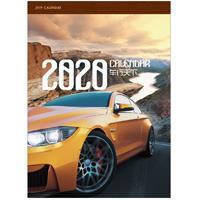 对开十三张铜版纸月历   车行天下 产品编号:LG20056
